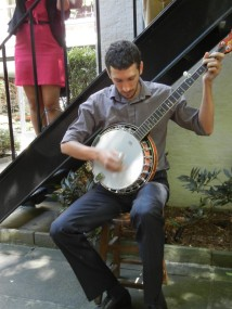 Jonathan Plays Banjo